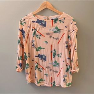 Anthropologie & Other Stories 3/4 sleeve blouse 8